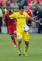 July 20, 2013: Columbus Crew forward Jairo Arrieta #25 in action during a game between Toronto FC and the Columbus Crew at BMO Field in Toronto, Ontario Canada.<br /> Toronto FC won 2-1.