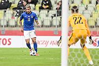 11th October 2020, The Stadion Energa Gdansk, Gdansk, Poland; UEFA Nations League football, Poland versus Italy; EMERSON  heads towards goal and keeper LUKASZ FABIANSKI