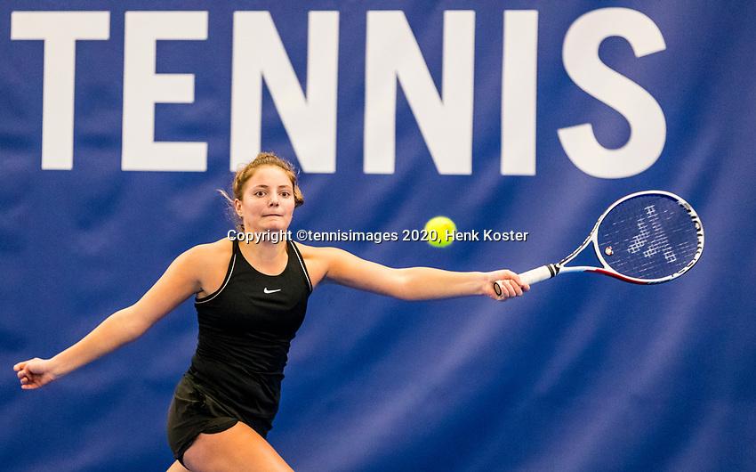 Amstelveen, Netherlands, 14  December, 2020, National Tennis Center, NTC, NK Indoor, National  Indoor Tennis Championships, Qualifying:  Madelief Hageman (NED) <br /> Photo: Henk Koster/tennisimages.com