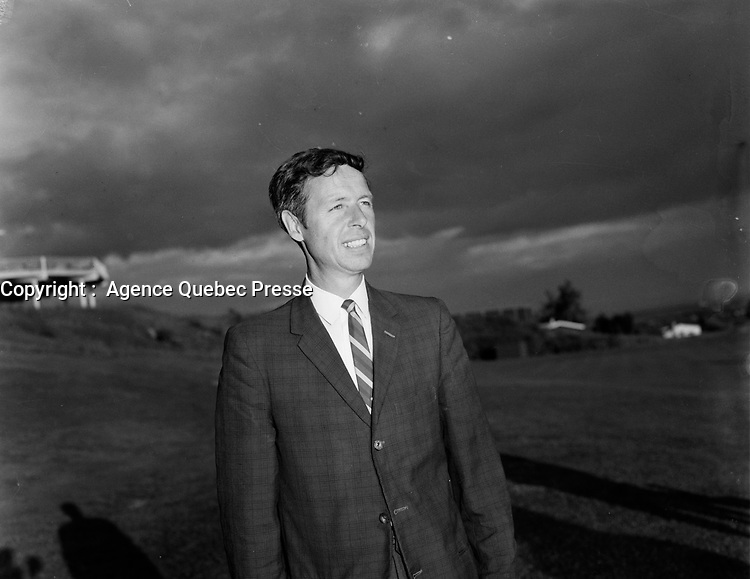 ARCHIVE -<br /> Le Maire de Quebec Gilles Lamontagne, 1968<br /> Date exacte inconnuee<br /> <br /> PHOTO :  AQP -  Photo Moderne