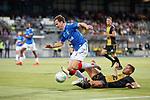 01.08.2019 Progres Niederkorn v Rangers: Andy Halliday and Yann Marques