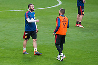 Spain Daniel Carvajal and Jordi Alba during training session the day before Spain and Argentina match at Wanda Metropolitano in Madrid , Spain. March 26, 2018. (ALTERPHOTOS/Borja B.Hojas) /NortePhoto NORTEPHOTOMEXICO