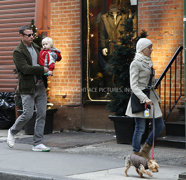 WWW.ACEPIXS.COM . . . . .  ....November 6 2009, New York City....Liev Schreiber and wife Naomi Watts with their son Alexander walk around their NoHo neighborhood on November 6, 2009 in New York City.....Please byline: NANCY RIVERA- ACE PICTURES.... *** ***..Ace Pictures, Inc:  ..tel: (212) 243 8787 or (646) 769 0430..e-mail: info@acepixs.com..web: http://www.acepixs.com