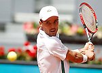 Roberto Bautista Agut, Spain, during Madrid Open Tennis 2016 match.May, 4, 2016.(ALTERPHOTOS/Acero)