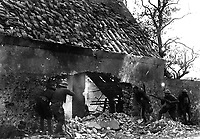 American snipers of the 166th Infantry (formerly 4th Inf., Ohio National Guard), in nest picking off Germans on the outer edge of town.  Villers sur Fere, France.  July 30, 1918.  Cpl. R. H. Ingleston.  (Army)<br />NARA FILE #:  111-SC-18672<br />WAR & CONFLICT BOOK #:  615