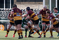 Match action during the Greene King IPA Championship match between Ealing Trailfinders and Ampthill RUFC being played behind closed doors due to the COVID-19 pandemic restrictions at Castle Bar , West Ealing , England  on 13 March 2021. Photo by Alan Stanford / PRiME Media Images