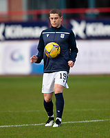 19th December 2020; Dens Park, Dundee, Scotland; Scottish Championship Football, Dundee FC versus Dunfermline; Finlay Robertson of Dundee during the warm up before the match