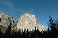 Yosemite National Park in California November 22, 2008. El Capitan is a favorite for experienced rock climbers. Rising more than 3,000 feet above the Valley floor, it is the largest monolith of granite in the world. El Capitan is opposite Bridalveil Fall and is best seen at the far west end of Yosemite Valley at Bridalveil and El Capitan Meadows. (Photo Copyright Alan Greth)