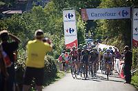 the grupetto in the last 3km<br /> <br /> stage 16: Luarca - Ermita de Alba<br /> 2015 Vuelta à Espagna