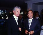 PIERO MARZOTTO CON EMILIO FEDE<br /> MATRIMONIO SIMONA FEDE E VITTORIO MARZOTTO - CAPRI 1986