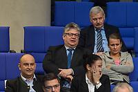 """15. Sitzung des Bundestages am Freitag den 23. Februar 2018.<br /> Aktuellen Stunde auf Antrag von Buendnis 90/Die Gruenen zum Thema """"Demokratie/Erinnerungskultur angesichts rechtsextremistischer Angriffe"""".<br /> Im Bild: Fraktion der rechtsnationalistischen """"Alternative fuer Deutschland"""" (AfD). Der Abgeordnete Thomas Seitz (Bildmitte mit Brille) bekam fuer seinen Zwischenruf """"Das Holocaustmahnmal sein ein """"Denkmal der Schande"""" in der Aktuellen Stunde eine Ermahnung durch das Bundestagspraesidium.<br /> 23.2.2018, Berlin<br /> Copyright: Christian-Ditsch.de<br /> [Inhaltsveraendernde Manipulation des Fotos nur nach ausdruecklicher Genehmigung des Fotografen. Vereinbarungen ueber Abtretung von Persoenlichkeitsrechten/Model Release der abgebildeten Person/Personen liegen nicht vor. NO MODEL RELEASE! Nur fuer Redaktionelle Zwecke. Don't publish without copyright Christian-Ditsch.de, Veroeffentlichung nur mit Fotografennennung, sowie gegen Honorar, MwSt. und Beleg. Konto: I N G - D i B a, IBAN DE58500105175400192269, BIC INGDDEFFXXX, Kontakt: post@christian-ditsch.de<br /> Bei der Bearbeitung der Dateiinformationen darf die Urheberkennzeichnung in den EXIF- und  IPTC-Daten nicht entfernt werden, diese sind in digitalen Medien nach §95c UrhG rechtlich geschuetzt. Der Urhebervermerk wird gemaess §13 UrhG verlangt.]"""