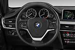 Car pictures of steering wheel view of a 2018 BMW X5 xDrive35d 5 Door SUV