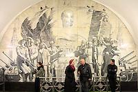 Novokuznetskaya Tube Station in Moscow, Russia