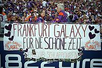Banner der Fans der Frankfurt Galaxy