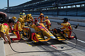 Verizon IndyCar Series<br /> IndyCar Grand Prix<br /> Indianapolis Motor Speedway, Indianapolis, IN USA<br /> Saturday 13 May 2017<br /> Ryan Hunter-Reay, Andretti Autosport Honda Pit Stop<br /> World Copyright: Geoffrey M. Miller LAT Images<br /> ref: Digital Image LAT_Miller_13May-639