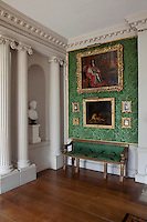 A portrait of Charles II hanging in the long gallery