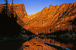 "Dream Lake and Hallett Peak at sunrise. From John's 3rd book: ""Mastering Nature Photography.""<br />