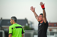 headcoach Angelo Gaytant of Zulte Waregem pictured during a female soccer game between Sporting Charleroi and SV Zulte-Waregem on the third matchday in the 2021 - 2022 season of Belgian Scooore Womens Super League , friday 3 September 2021 in Marcinelle , Belgium . PHOTO SPORTPIX | STIJN AUDOOREN