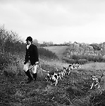 The Dummer Beagles..The Dummer hunt with permission of the Master of the Fox Hounds Association. Their country takes in the Heythrope, Warwick and the Cotswold foxhunting country. Manor Farm, Icomb, Gloucestershire.
