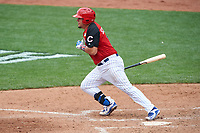 Team USA Kyle Schwarber (12) bats during the MLB All-Star Futures Game on July 12, 2015 at Great American Ball Park in Cincinnati, Ohio.  (Mike Janes/Four Seam Images)