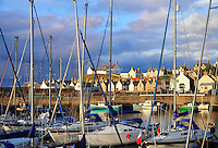 SC - Prov. MORAY - FINDOCHTY<br /> Last sun rays illuminate the harbour of the tiny fishing village <br /> <br /> Full size 67,8 MB