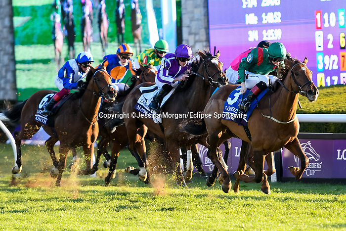 November 7, 2020 : Tarnawa, ridden by Colin Keane, wins the Longines Turf on Breeders' Cup Championship Saturday at Keeneland Race Course in Lexington, Kentucky on November 7, 2020. Jessica Morgan/Breeders' Cup/Eclipse Sportswire/CSM