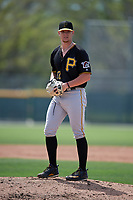 Pittsburgh Pirates Logan Stoelke (52) during a minor league Spring Training game against the Philadelphia Phillies on March 13, 2019 at Pirate City in Bradenton, Florida.  (Mike Janes/Four Seam Images)