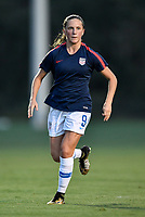 Lakewood Ranch, FL - Wednesday, October 10, 2018:   Hannah Bebar warms up prior to a U-17 USWNT match against Colombia.  The U-17 USWNT defeated Colombia 4-1.