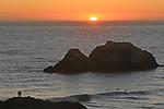 Lands Ends at sunset, San Francisco, CA.