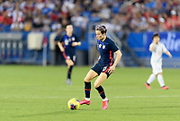 FRISCO, TX - MARCH 11: Megan Rapinoe #15 of the United States gathers in a loose ball during a game between Japan and USWNT at Toyota Stadium on March 11, 2020 in Frisco, Texas.