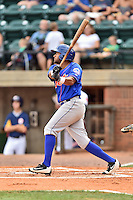 Kingsport Mets designated hitter Will Barring (5) swings at a pitch during a game against the Greeneville Astros at Pioneer Park on July 3, 2016 in Greeneville, Tennessee. The Mets defeated the Astros 11-0. (Tony Farlow/Four Seam Images)