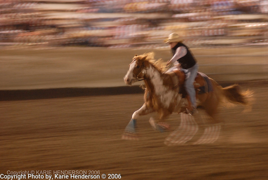 Barrel racer at the Ventura County Fair. © Karie Henderson 2006
