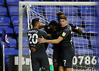 10th February 2021; Madejski Stadium, Reading, Berkshire, England; English Football League Championship Football, Reading versus Brentford; Josh Dasilva of Brentford celebrates with his team mates after scoring his sides 2nd goal in the 86th minute to make it 2-1
