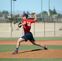 Noah Song works out with the USA Baseball Premier 12 Team at the Kansas City Royals complex on October 28, 2019 in Surprise, Arizona (Bill Mitchell)