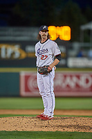 Ben Taylor (27) of the Reno Aces looks to the plate against the Nashville Sounds at Greater Nevada Field on June 5, 2019 in Reno, Nevada. The Aces defeated the Sounds 3-2. (Stephen Smith/Four Seam Images)