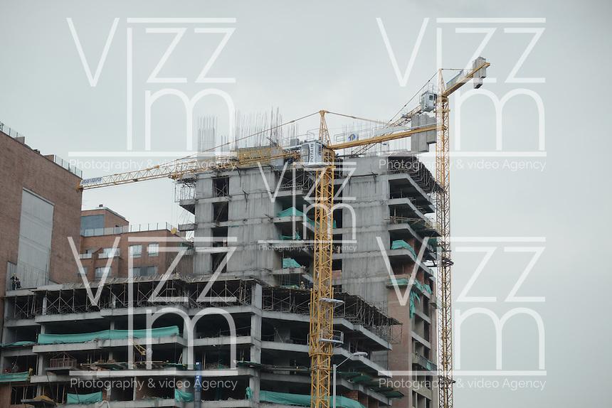 BOGOTÁ-COLOMBIA-18-01-2013. Edificio en construcción./ Building construction.  Photo: VizzorImage/STR