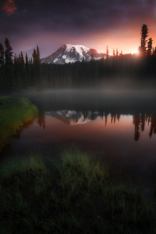 Reflection Lake at Sunrise. Mount Rainier National Park, WA