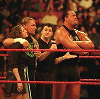 Stephanie McMahon Triple H Shane McMahon  Big Show 2000                                                                                       Photo By John Barrett/PHOTOlink