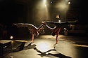 Edinburgh, UK. 08.08.2015. Cirque le Roux presents THE ELEPHANT IN THE ROOM, in the Beauty, part of the new Underbelly Circus Hub on the Meadows, during Edinburgh Festival Fringe. Photograph © Jane Hobson