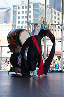 Taiko Drummer, Dragon Fest 2015, Chinatown, Seattle, Washington, USA
