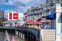 The Boardwalk at Disney World, Orlando, Florida, USA.