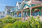 Victorian cottages at Ocean Park in Oak Bluffs, Marthas Vineyard, Massachusetts, USA