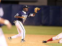 Xavier Musketeers Selby Chidemo #23 during a game vs. the Illinois State Redbirds at Chain of Lakes Stadium in Winter Haven, Florida;  March 5, 2011.  Illinois State defeated Xavier 7-6.  Photo By Mike Janes/Four Seam Images