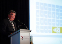 Montreal. CANADA -  September 29,2014   James C. Cherry, President & Chief Executive Officer of Aeroports de Montreal, deliver a speech to the Canadian Club of Montreal<br /><br />File Photo : Agence Quebec Pressse - Pierre Roussel