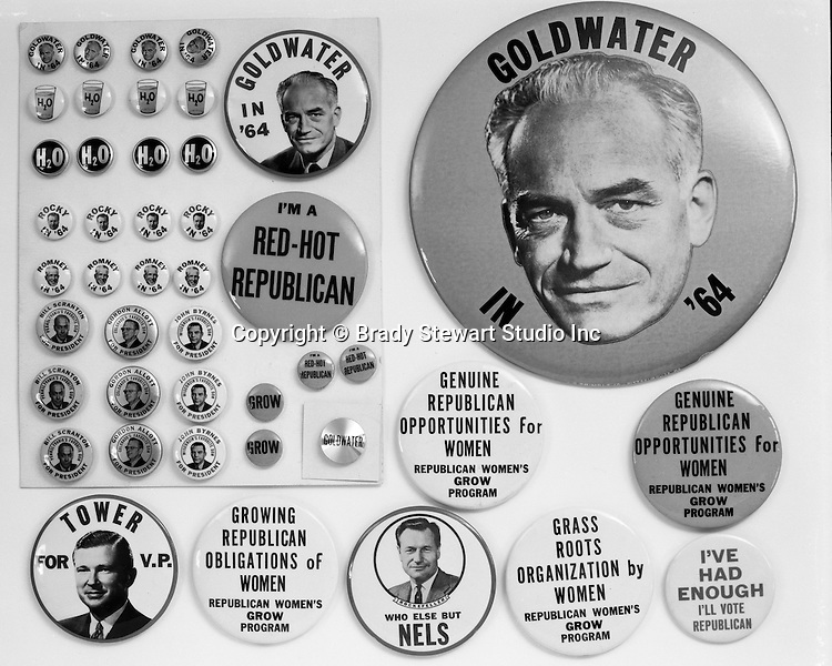Client: A.G. Trimble Co.<br /> Ad Agency: None / Trimble<br /> Product: Political Pins and Buttons<br /> Location: Brady Stewart Studio, 812 Market Street, Pittsburgh.<br /> <br /> AG Trimble's  Republican Political buttons. The AG Trimble company was an Advertising Specialties company located in the Jenkins Arcade building on Liberty Avenue.