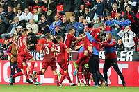 die Mannschaft freut sich ueber das goal of  Vladimir Darida #8 (Tschechische Republik)  Ausgleich 1:1, Tschechische Republik vs. Germany, Football, WM-Qualifikation, 01.09.2017 *** Local Caption *** © pixathlon<br /> Contact: +49-40-22 63 02 60 , info@pixathlon.de