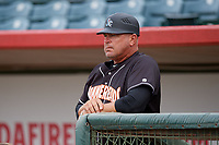 Jupiter Hammerheads manager Todd Pratt (54) before a Florida State League game against the Florida Fire Frogs on April 8, 2019 at Osceola County Stadium in Kissimmee, Florida.  Florida defeated Jupiter 7-6 in ten innings.  (Mike Janes/Four Seam Images)