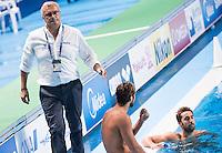 Dejection CAMPAGNA Sandro coach ITA<br /> GREECE vs ITALY<br /> GRE vs ITA<br /> Waterpolo - Men's 3rd-4th place <br /> Day 16 08/08/2015<br /> XVI FINA World Championships Aquatics Swimming<br /> Kazan Tatarstan RUS July 24 - Aug 9 2015 <br /> Photo Giorgio Perottino/Deepbluemedia/Insidefoto
