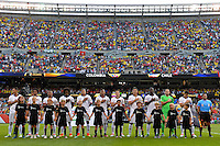 Chicago, IL - Wednesday June 22, 2016: Colombia  during a Copa America Centenario semifinal match between Colombia (COL) and Chile (CHI) at Soldier Field.