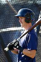 Taylor Ratliff #23 of the Hillsboro Hops takes batting practice before a game against the Spokane Indians at Hillsboro Ballpark on July 22, 2013 in Hillsboro Oregon. Spokane defeated Hillsboro, 11-3. (Larry Goren/Four Seam Images)